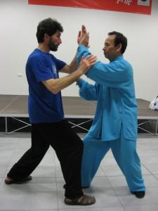 TuiShou con il M° Wang LianFu