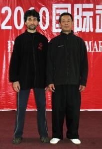Davide Ronchetti col maestro Wu Ji al China Camp 2010 (Pechino)