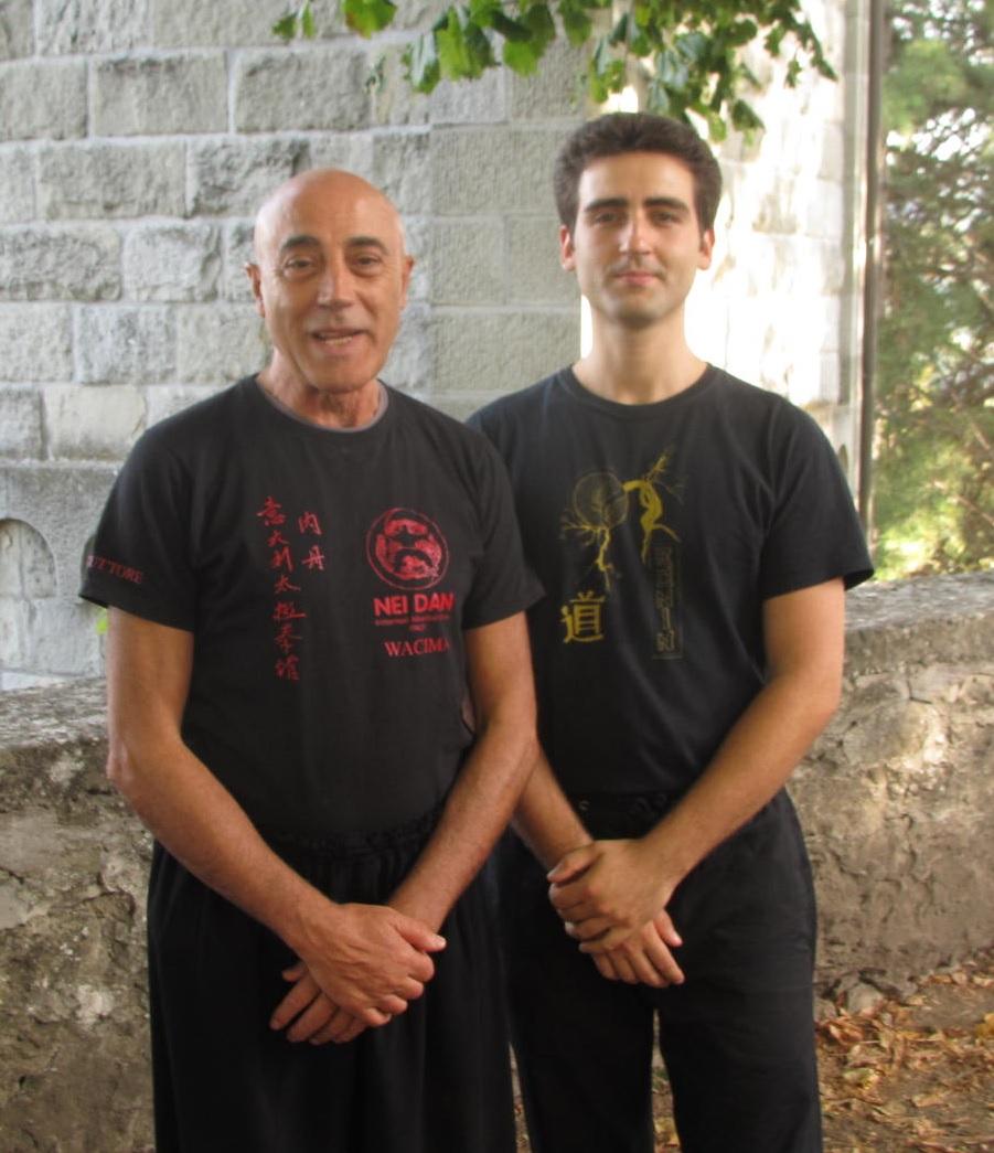 Giulio Ganzerli con il M° Flavio Daniele